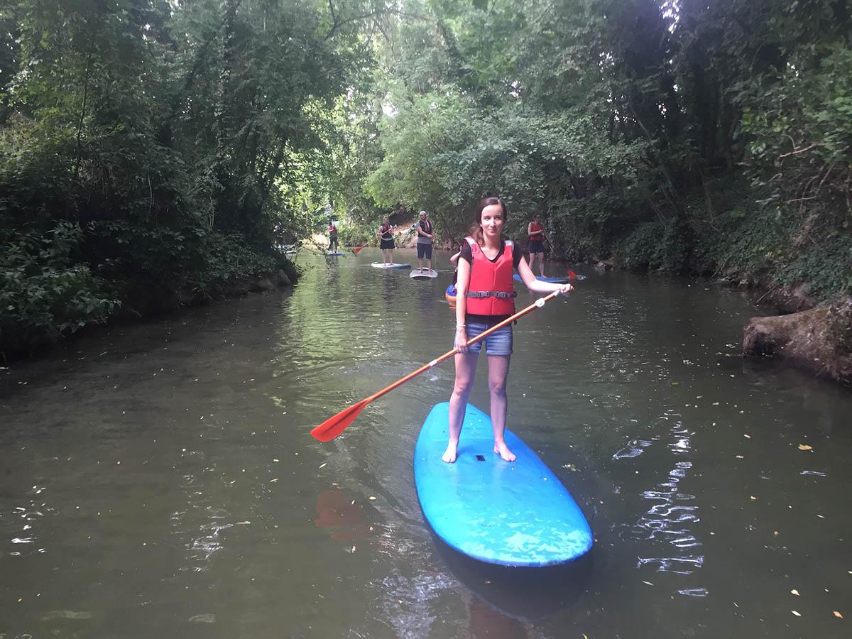 Sur le canal de Polangis en stand-up paddle