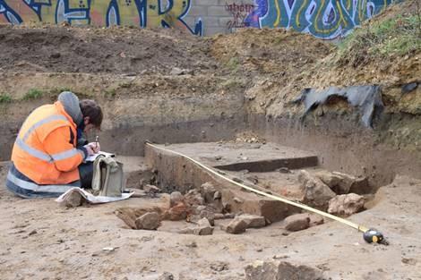 Chantier de fouille archéologique à Vitry