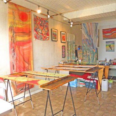 Visite-conférence à l'atelier «Brin de soie»
