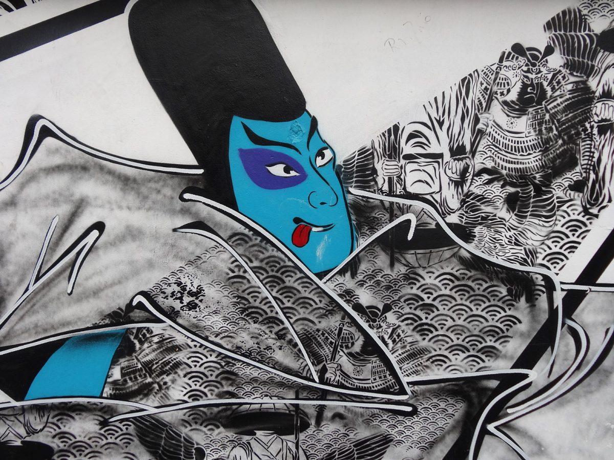 Oeuvre du street artiste STEW