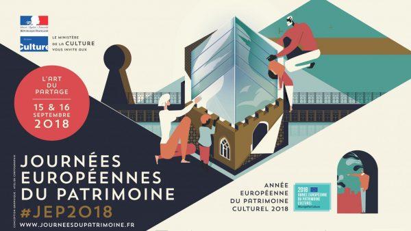 Affiche Journées du patrimoine 2018