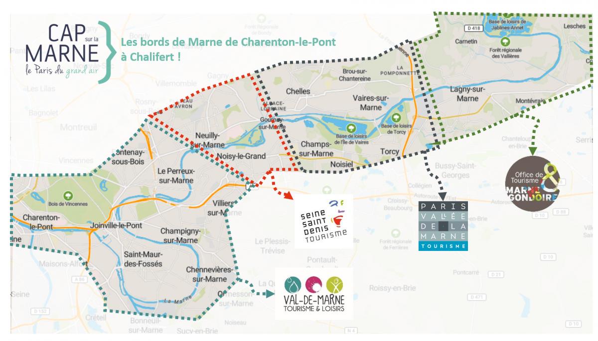Carte Cap sur la Marne