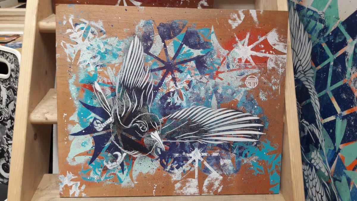 Œuvre du street artiste Stew