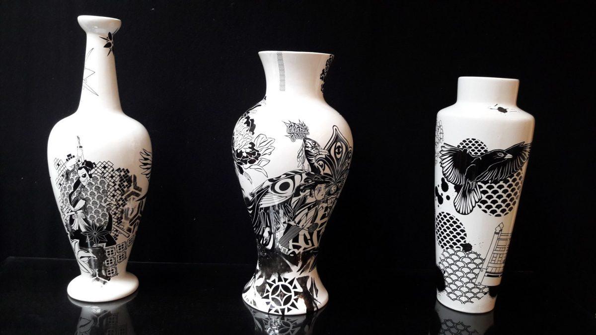 Vases street art de Stew