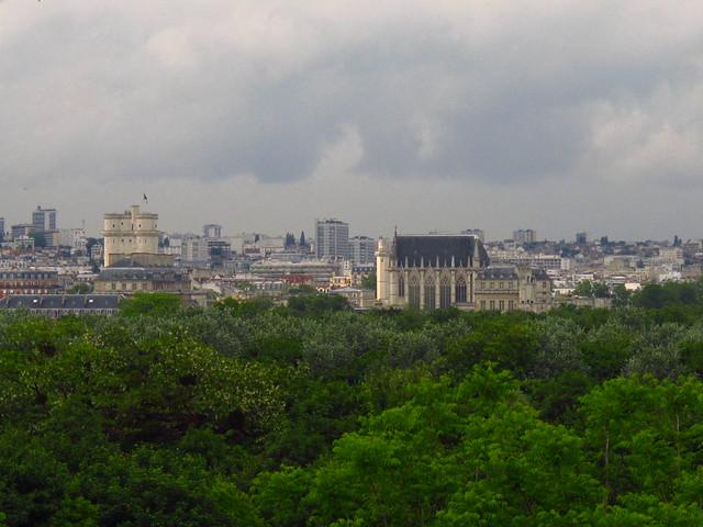 Vue bois et château de Vincennes