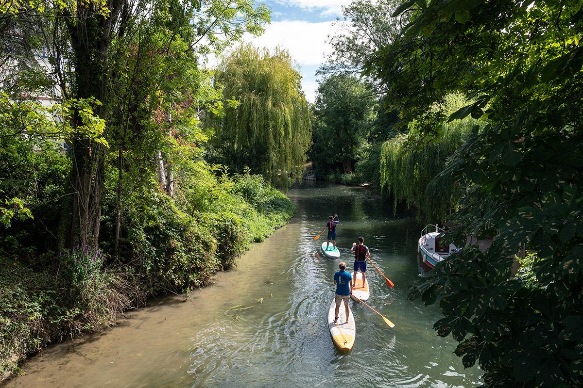 stand-up paddle sur la Marne