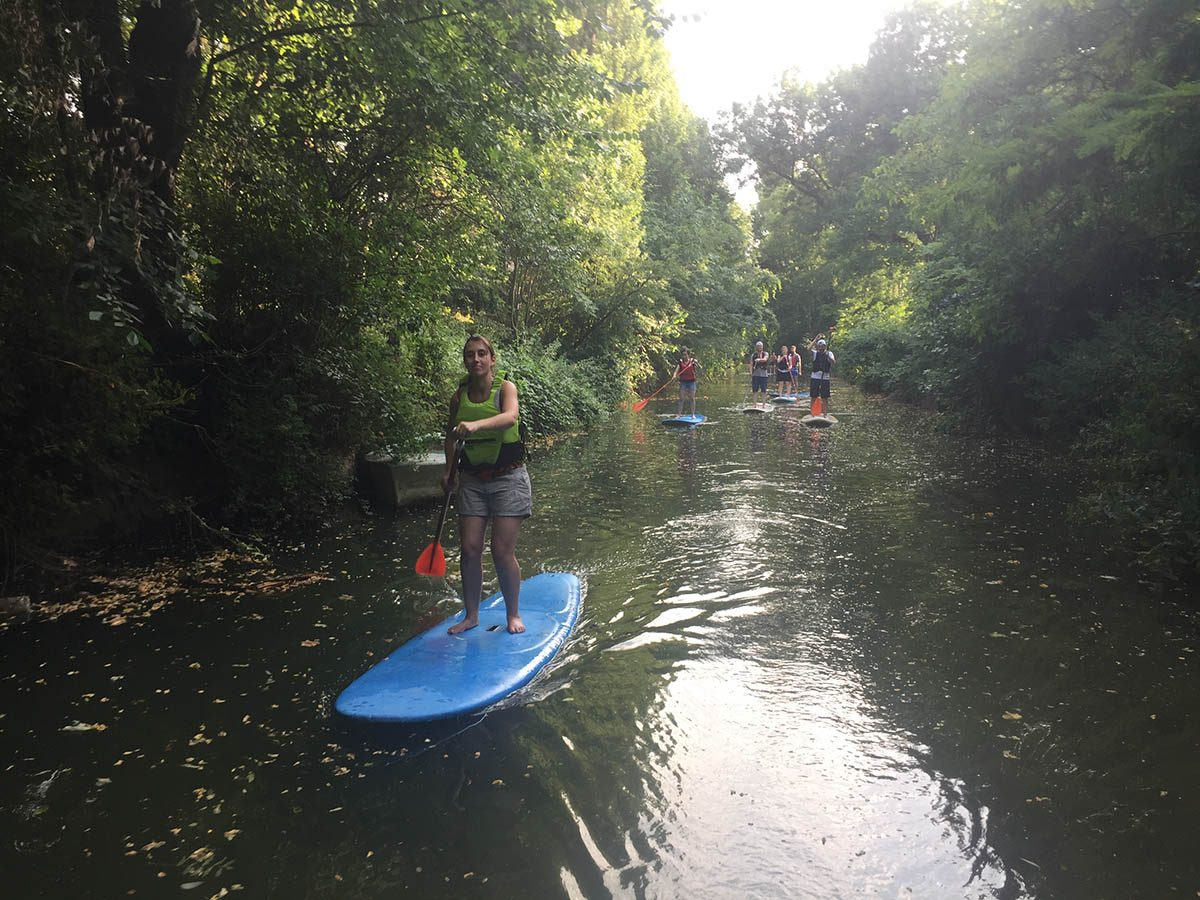 stand-up paddle sur la Marne