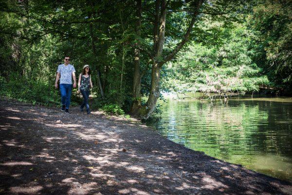 Randonnee a pied dans le bois de Vincennes