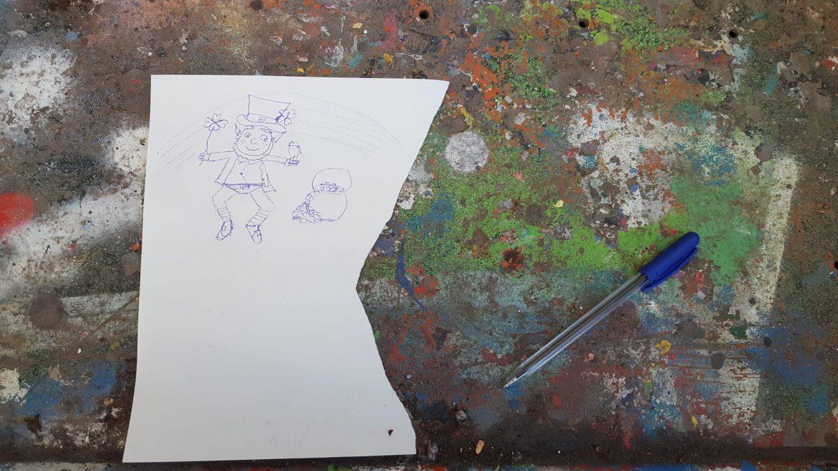 Croquis à l'atelier graffiti dans le 13e arr. de Paris