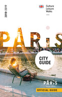 couverture brochure paris city guide anglais