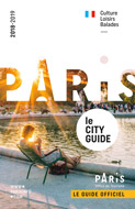 couverture brochure paris city guide