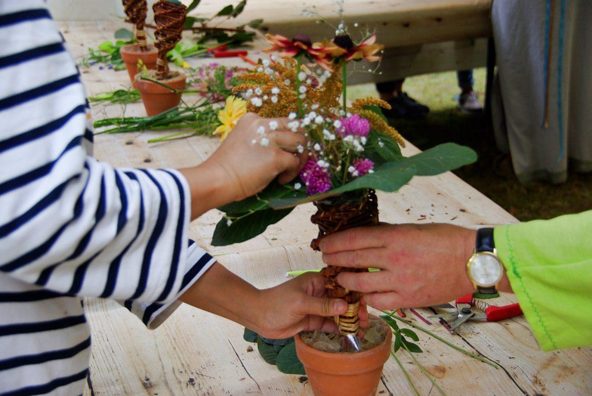 bouquet fleurs parc dupeyroux festival ete