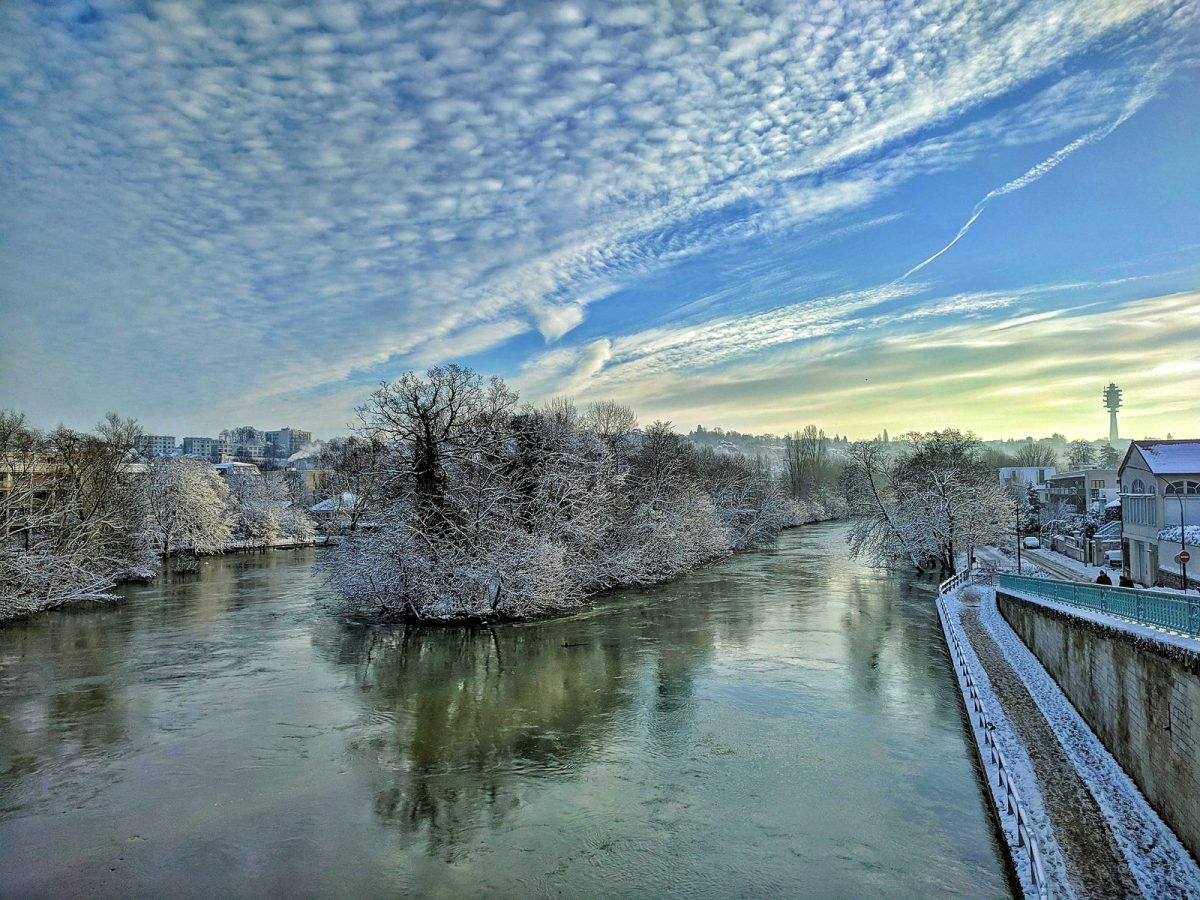 bords marne neige hiver