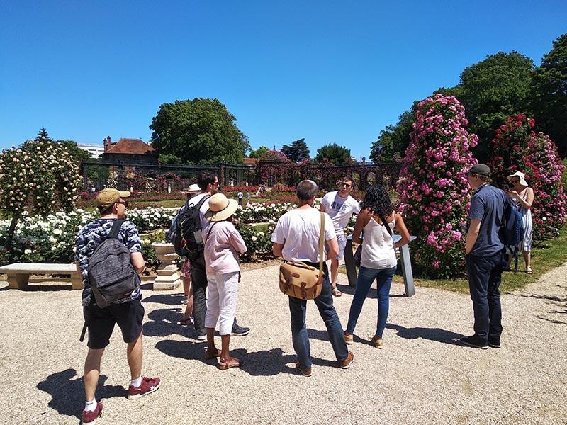 Découverte de la roseraie à L'Haÿ-les-Roses lors d'un Instameet