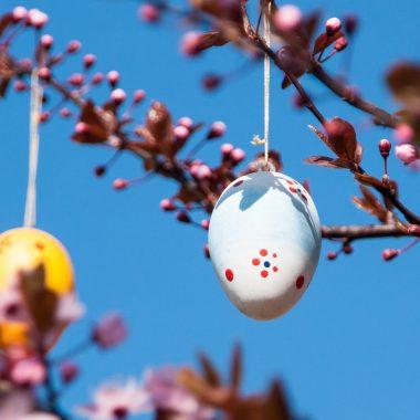 Oeuf de Pâques au printemps