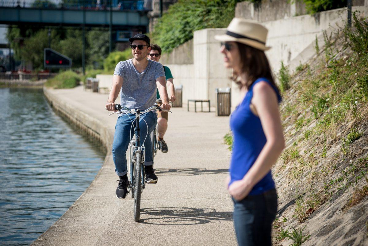 A vélo sur les bords de Marne