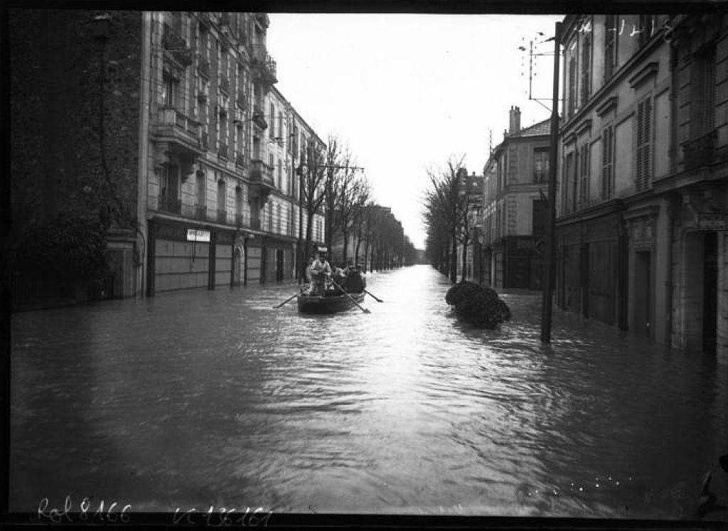 Vitry-sur-Seine lors de la grande crue de 1910