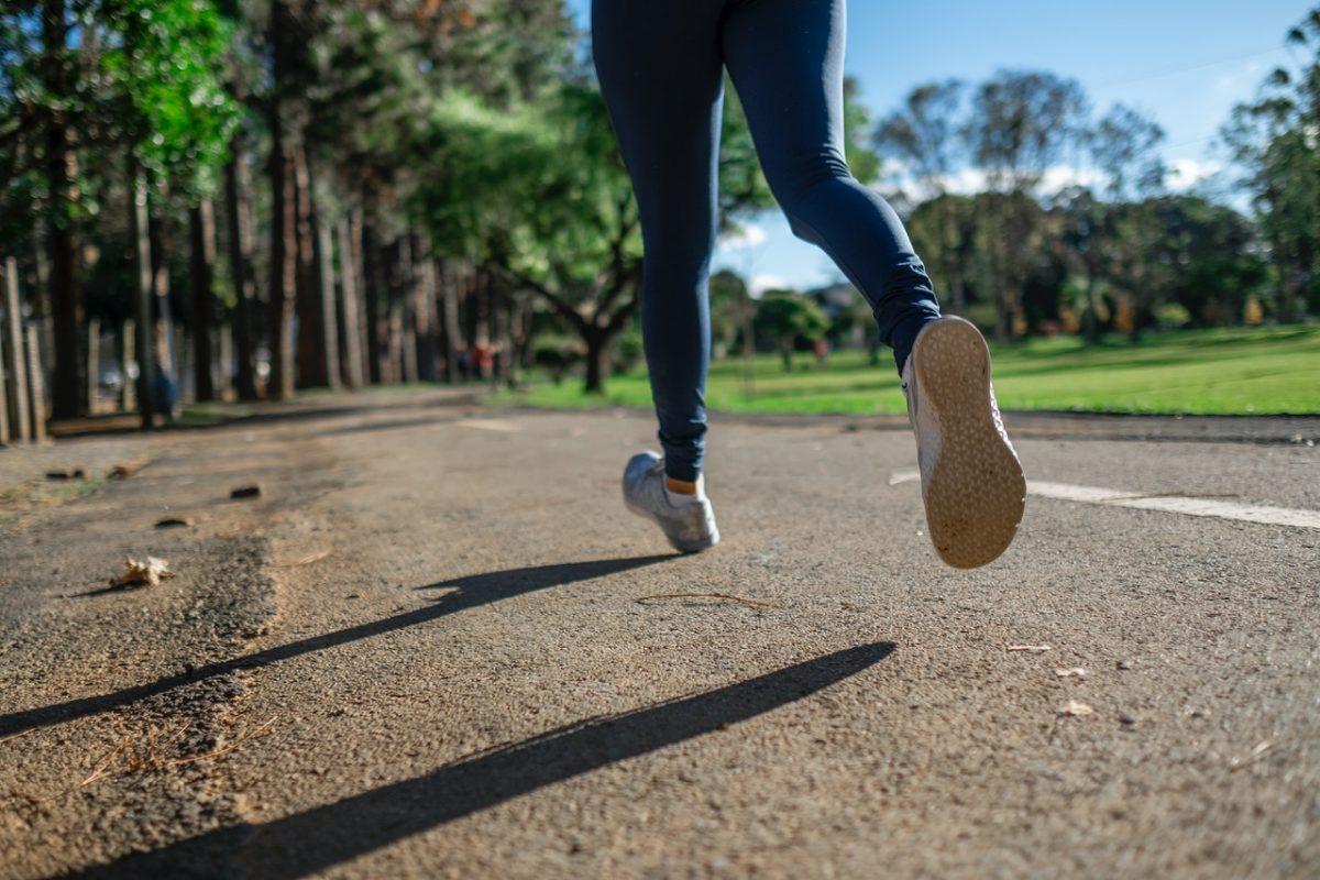 jogging course a pied nature