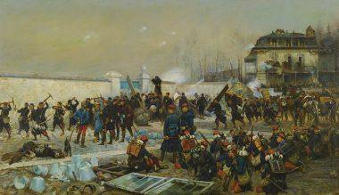 Peinture de la bataille de Champigny