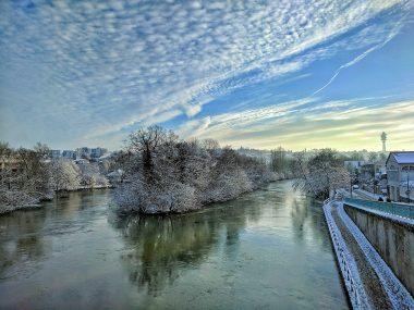 Bords de Marne sous la neige