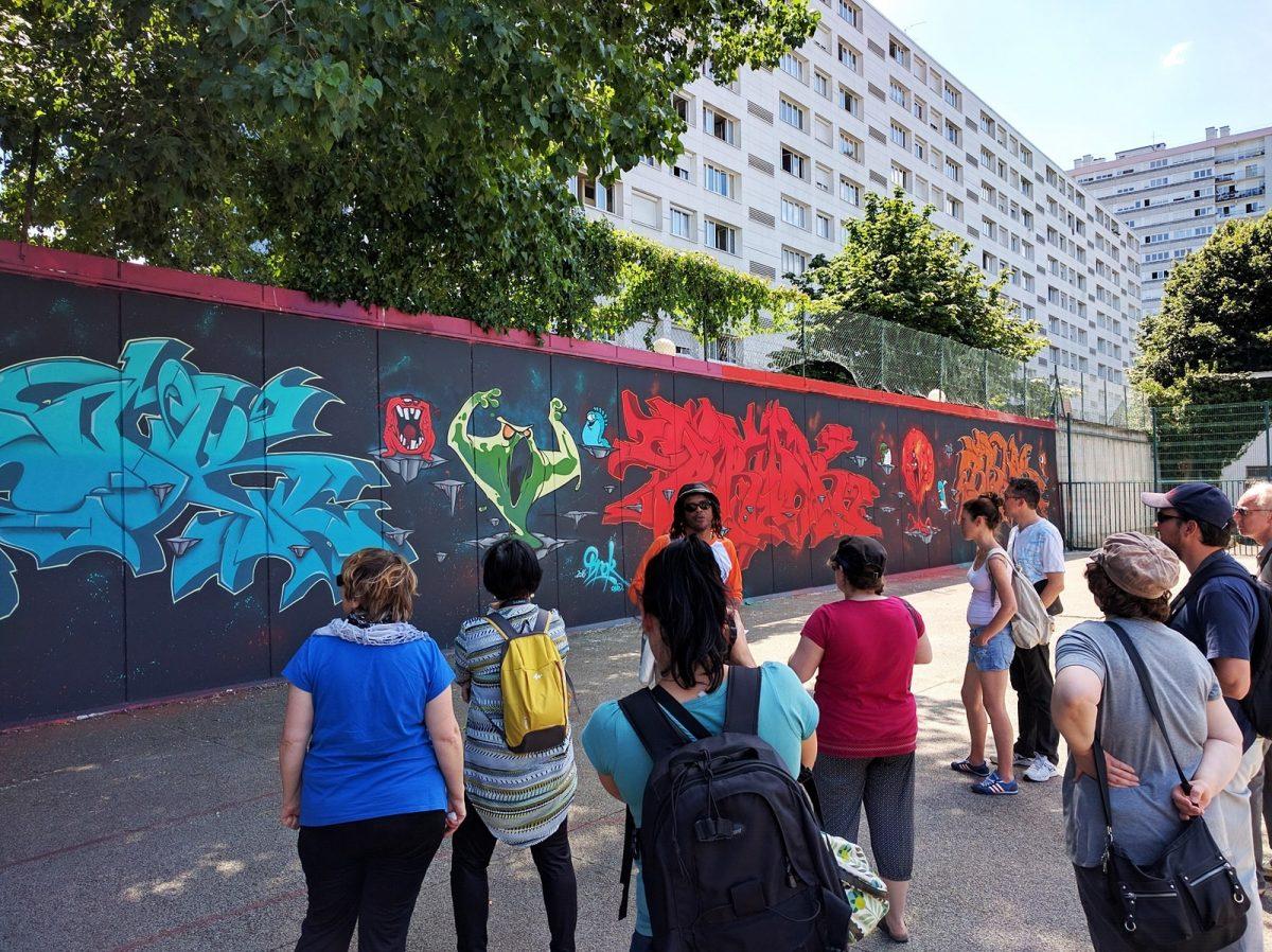 Oeuvre du street artiste Brok à Vitry-sur-Seine © CDT94