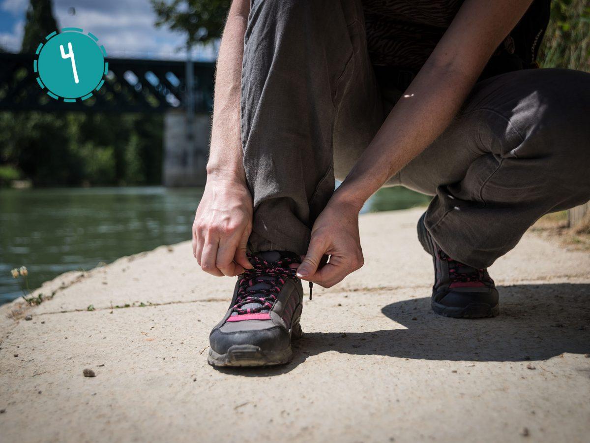 Promeneur chaussure Bord de Seine