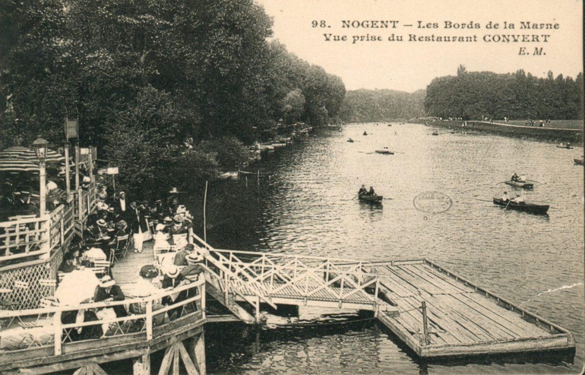 Photo d'archives d'une guinguette des bords de Marne