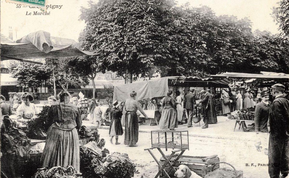 Carte ancienne du Marché de Champigny-sur-Marne