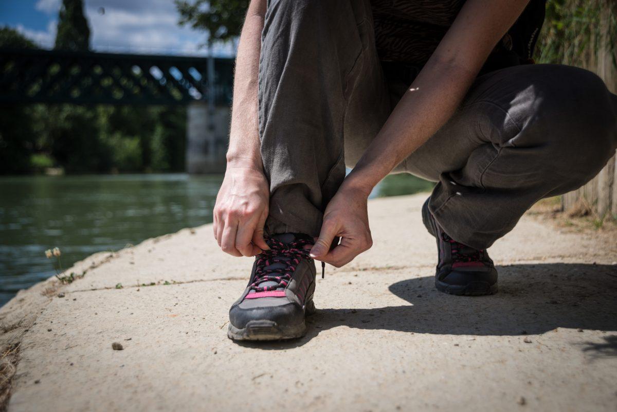 Bords de Seine randonnée à pied et en chaussure