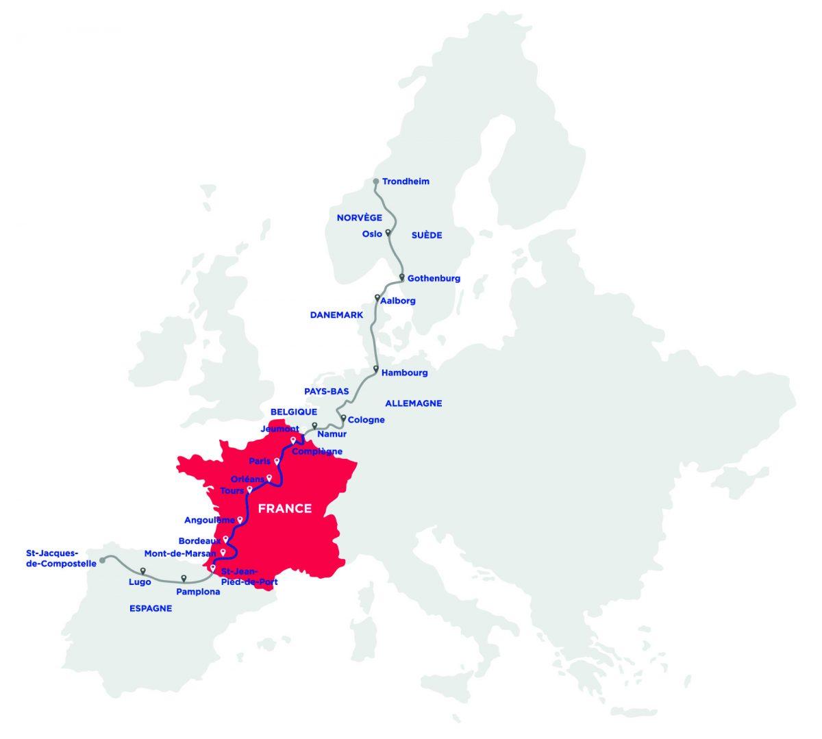 tracé eurovélo 3