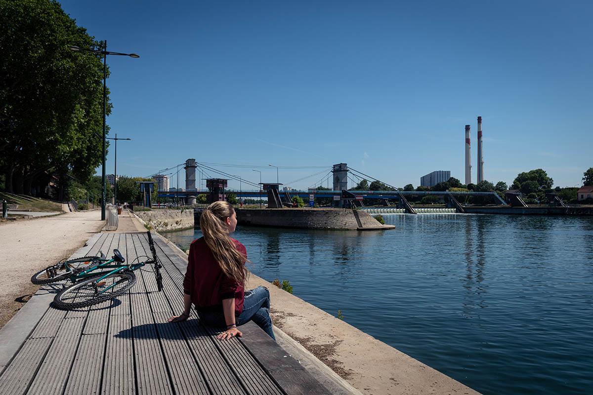 Balade à vélo sur les bords de Seine