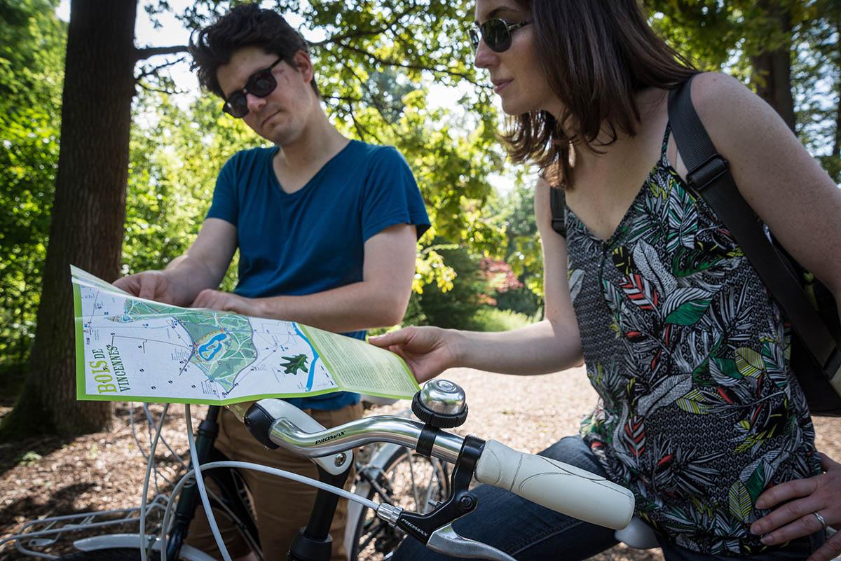 Balade à vélo dans le bois de Vincennes