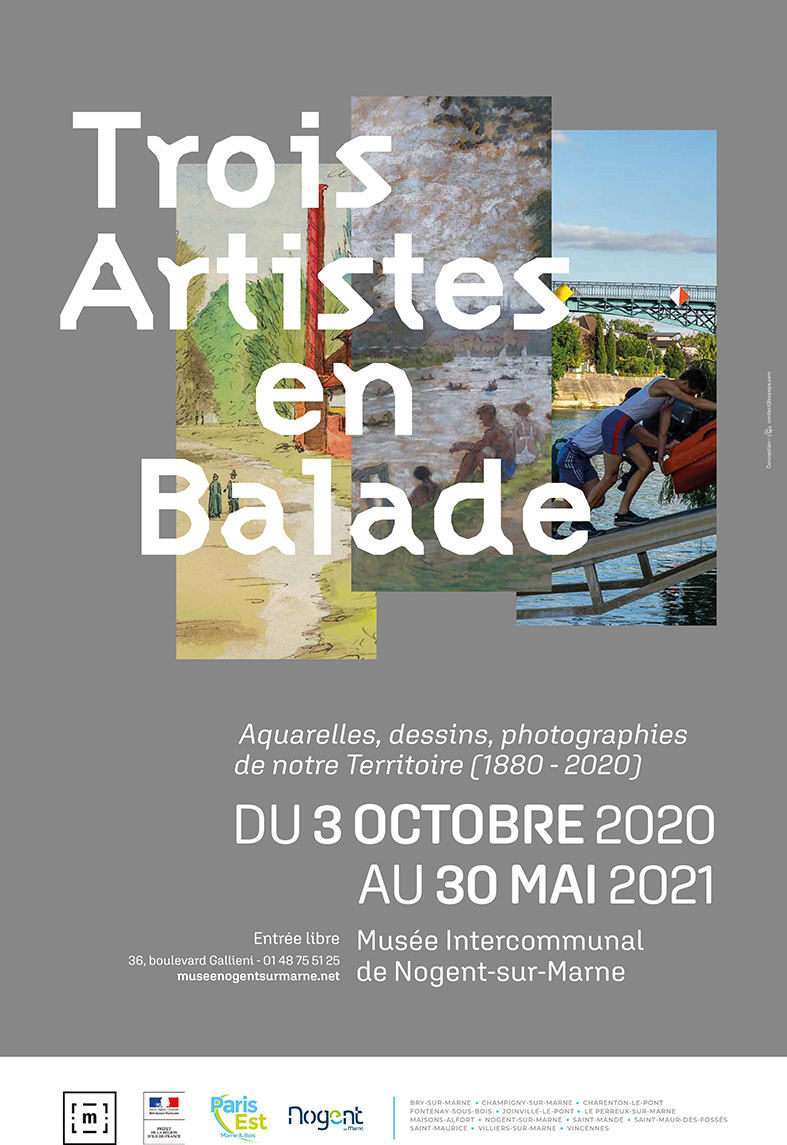 Affiche exposition Trois artistes en balade
