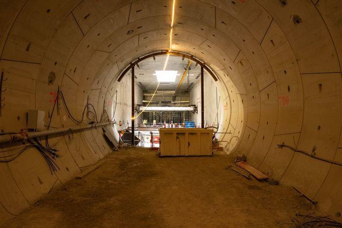 Visite du chantier de la ligne 14 du métro