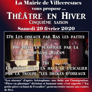 FESTIVAL «THÉÂTRE EN HIVER» à La Rue