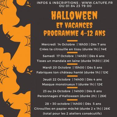Ateliers Halloween enfants au Catufé