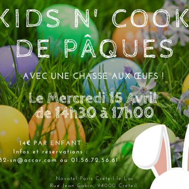 KIDS N' COOK spécial Pâques au Novotel !