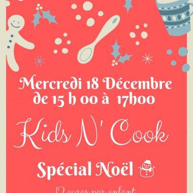 Kids N' Cook : atelier patisserie spécial Noël