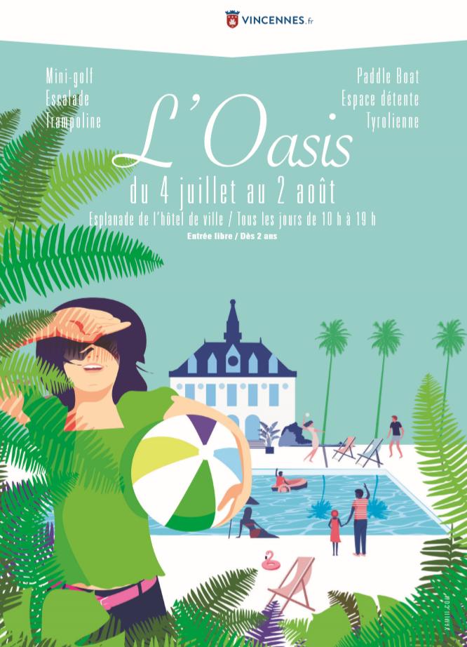 affiche plage vincennes oasis
