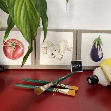 Peindre son Triptyque Légumes du Marché