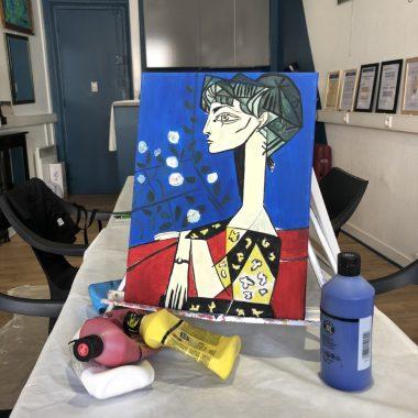 Peindre à la manière des artistes de Montmartre : Picasso
